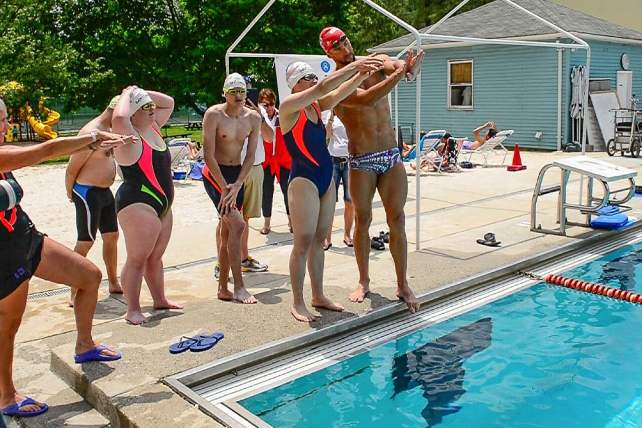 Michael Phelps Swim Clinic