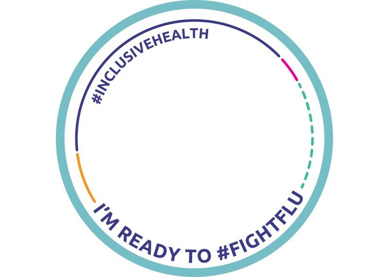 Facebook frame #InclusiveHealth I'm ready to #FightFlu.