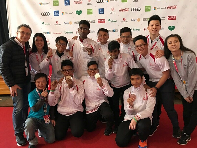 Special Olympics Singapore 2017 floorball team