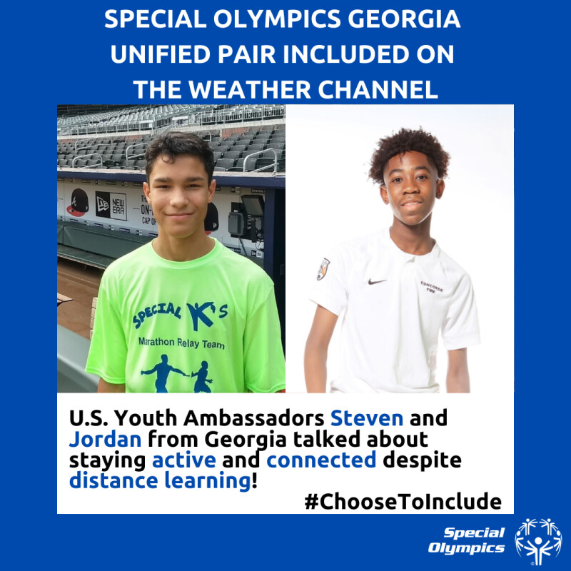Special Olympics Georgia Unified Pair Included on the Weather Channel