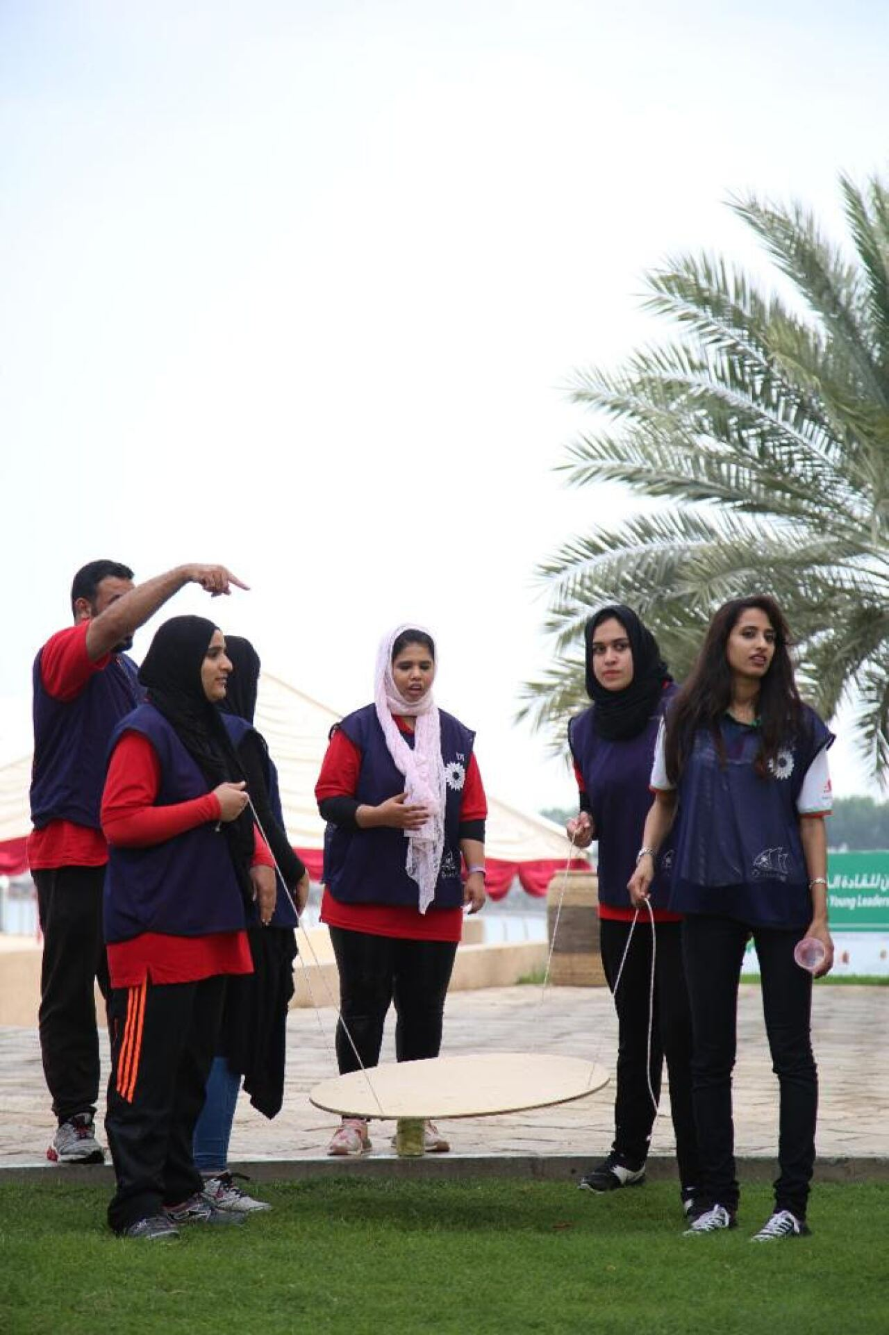 Special Olympics Middle East North Africa athlete leaders and mentors participate in team building and leadership development activities during a recent regional training.