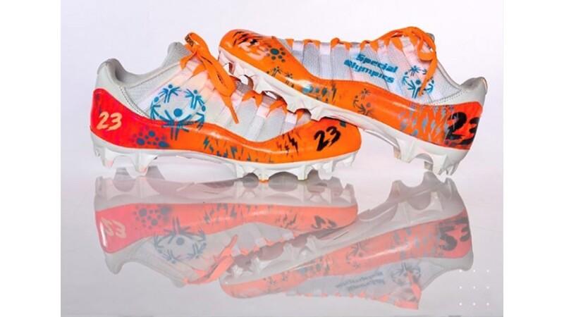 Joe Haden's #23 Special Olympics shoes.