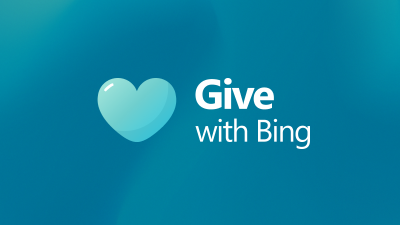 Give with Bing blue heart illustration.