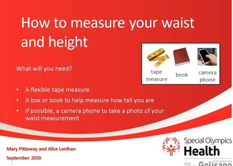 Special Olympics Waist Height Measurement Guide (Metric)