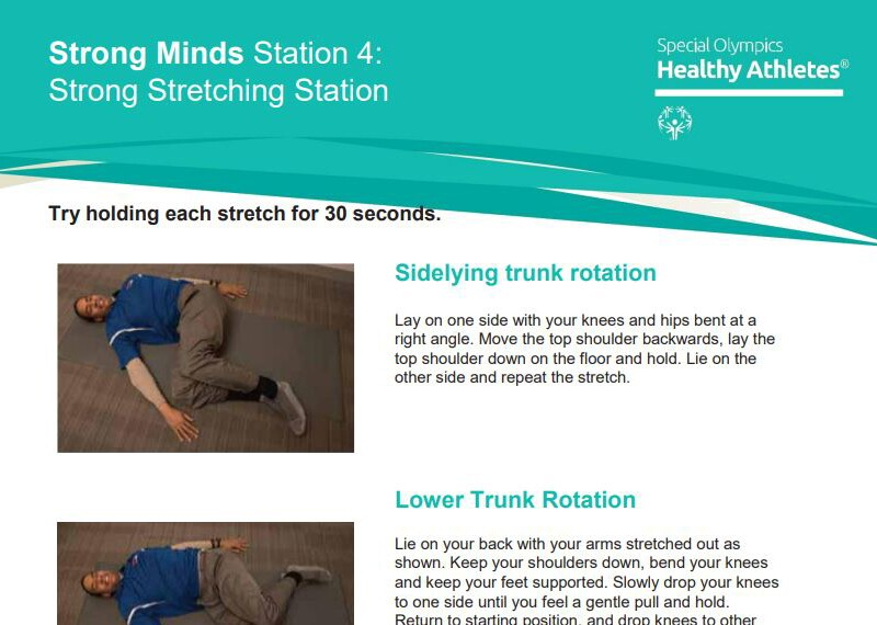 Stretching guide.