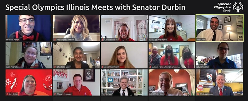 Special Olympics Illinois meets virtually with Senator Dick Durbin (D-IL) during 2021 Capitol Hill Day.