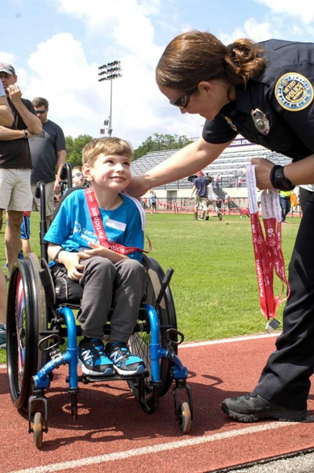 Torch Run Awards Summer Games Young Athletes