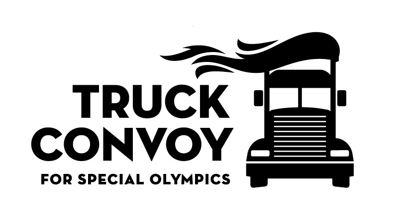 Illustration of a truck with text reading: Truck Convoy for Special Olympics