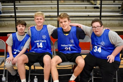 A team of Unified Champion Schools Basketball players from Special Olympics Missouri