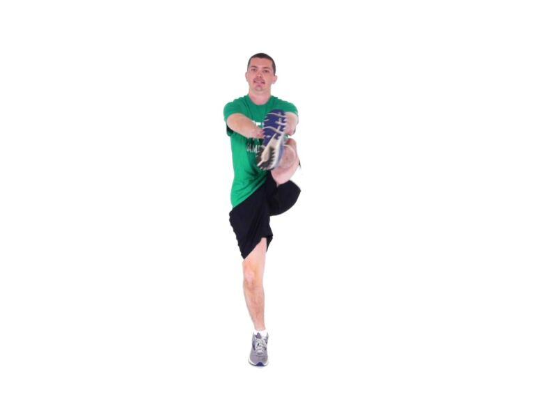 Athlete demonstrating Walking Kicks.