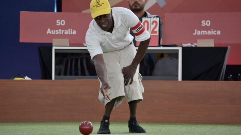 Jamaica's 51-year-old bocce player Delroy Sullivan