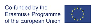European Union logo. Text reads: Co-founded by the Erasmus + Programme of the European Union