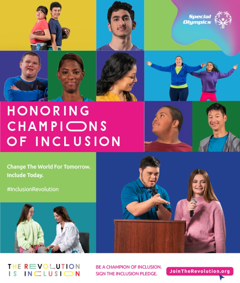 Imagery and branding for Special Olympics Honoring Champions of Inclusion