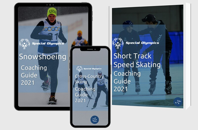 Winter Sport Coaching guides available in multiple formats, including online, phone, and in print.
