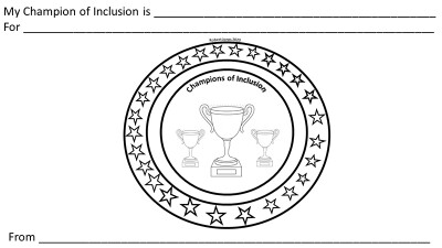 Champions of Inclusion Trophy nomination form.