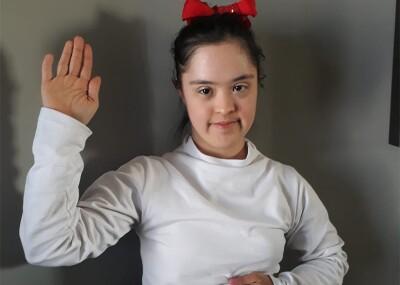 Ana Fernanda, en juramento a su compromiso con la inclusión de todas las mujeres.