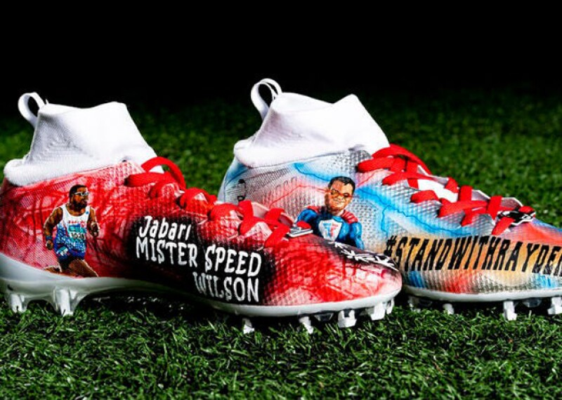 Cleveland Browns Baker Mayfield's Special Olympic Cleats