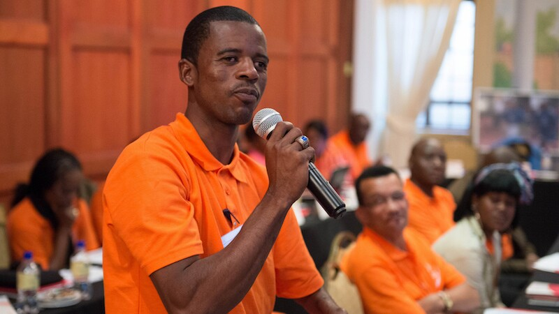 Athletes like Deon Namiseb of Namibia who show a willingness to lead are given the chance to learn more and grow as leaders through the Special Olympics Athlete Leadership program.