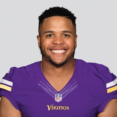 Eddie Yarbrough in his Minnesota Vikings uniform.