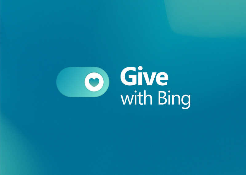 Image reads: Give with Bing