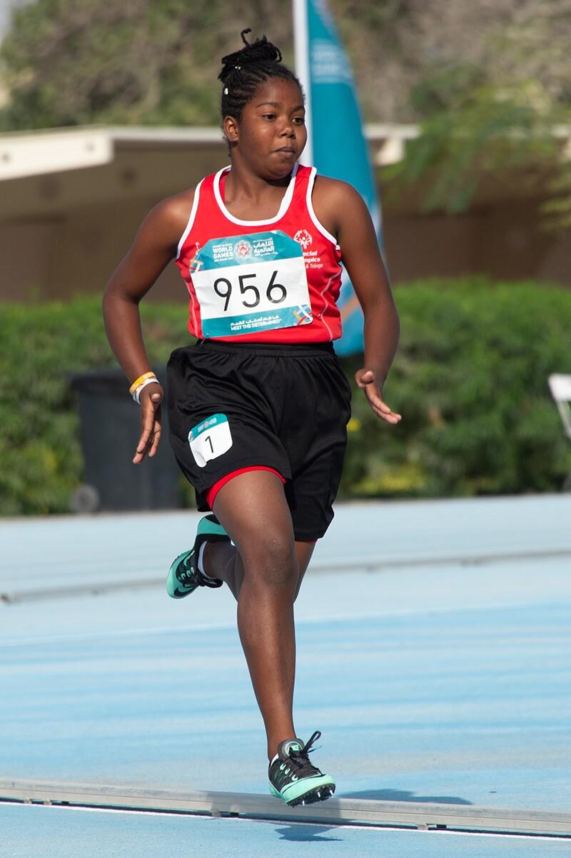 Female runner running.