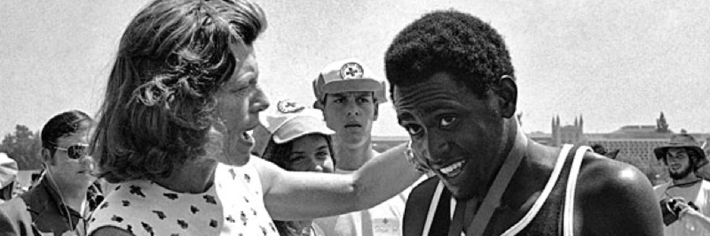Eunice Presents Medal at 1968 Games