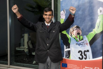 Abdul Amin - Special Olympics Cyprus Athlete and refugee, Burso
