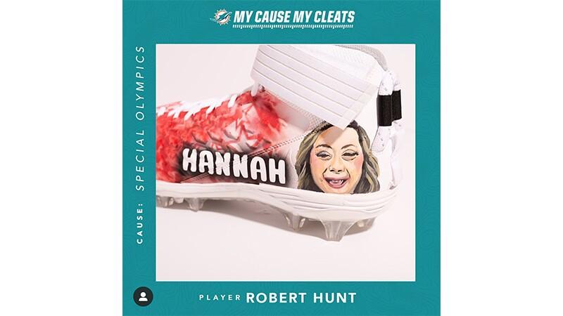 "Robert Hunt's Special Olympics ""Hannah"" shoe."
