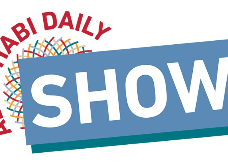 Abu Dhabi Daily Show logo in World Games Abu Dhabi 2019 graphics.
