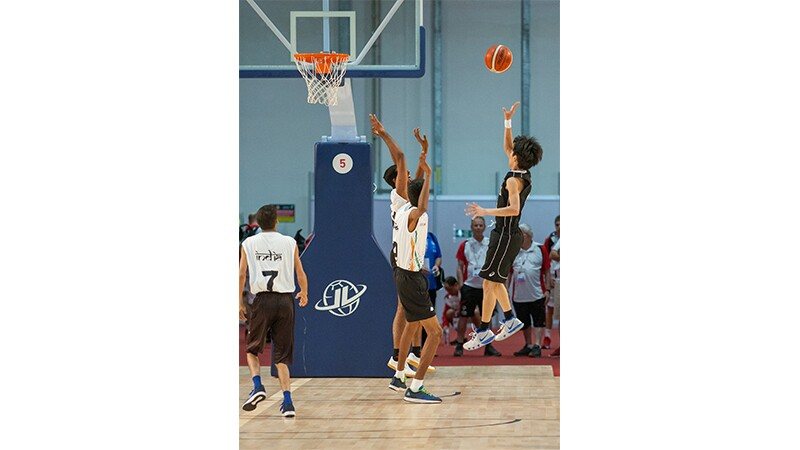 World Games Abu Dhabi 2019: athletes playing basketball.