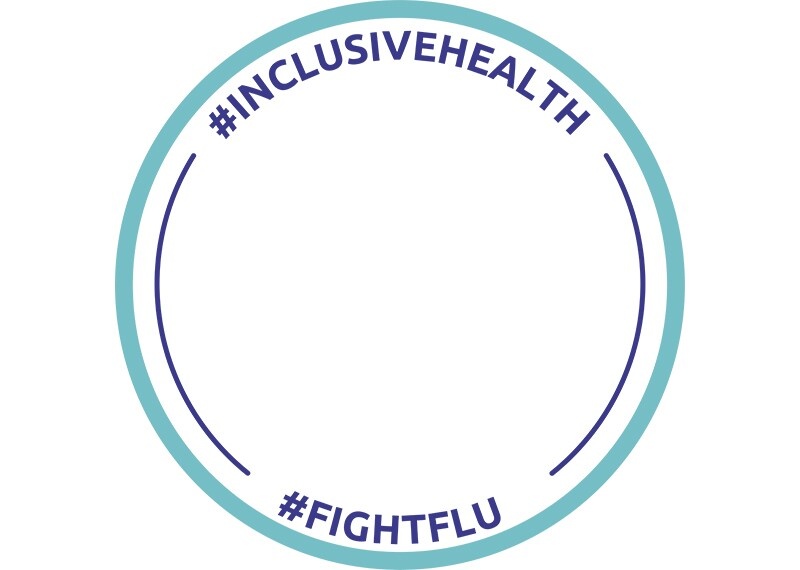Facebook frame #InclusiveHealth #FightFlu number 1.