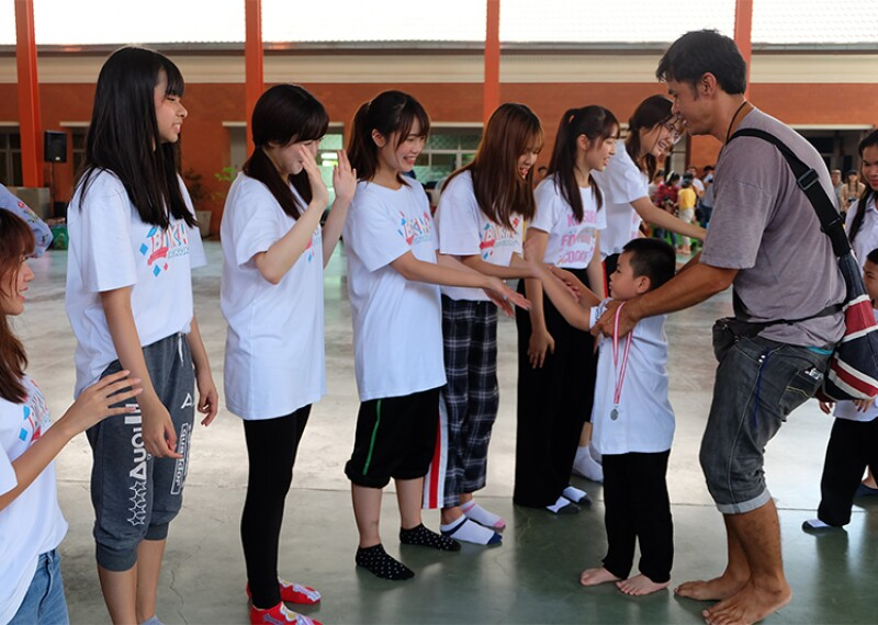 Members of BNK48 also volunteered at a Young Athletes Fun Day outside of Bangkok.