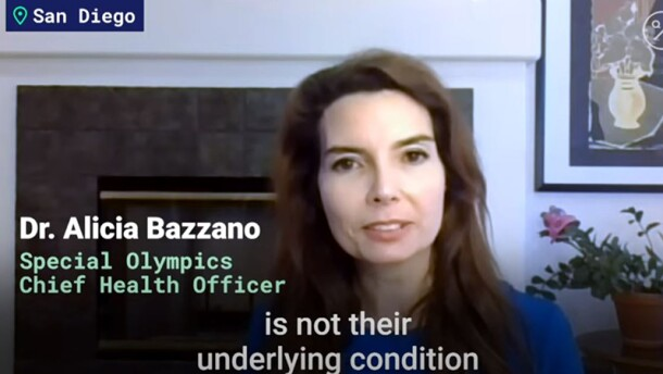 Dr. Alicia Bazzano speaking from her home.