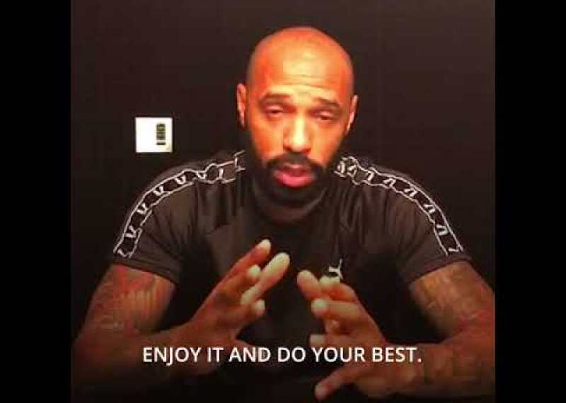 Thierry Henry sends best wishes to #EFW2018 athletes