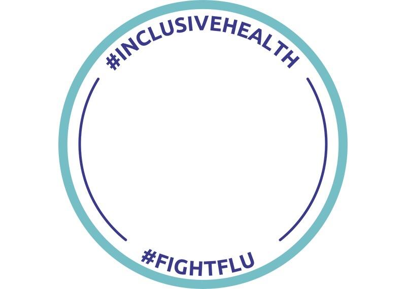 Facebook frame #InclusiveHealth #FightFlu number 1.