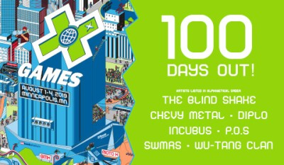X Games 100 days out advertizement