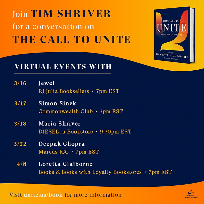 The Call to United virtual book tour dates.