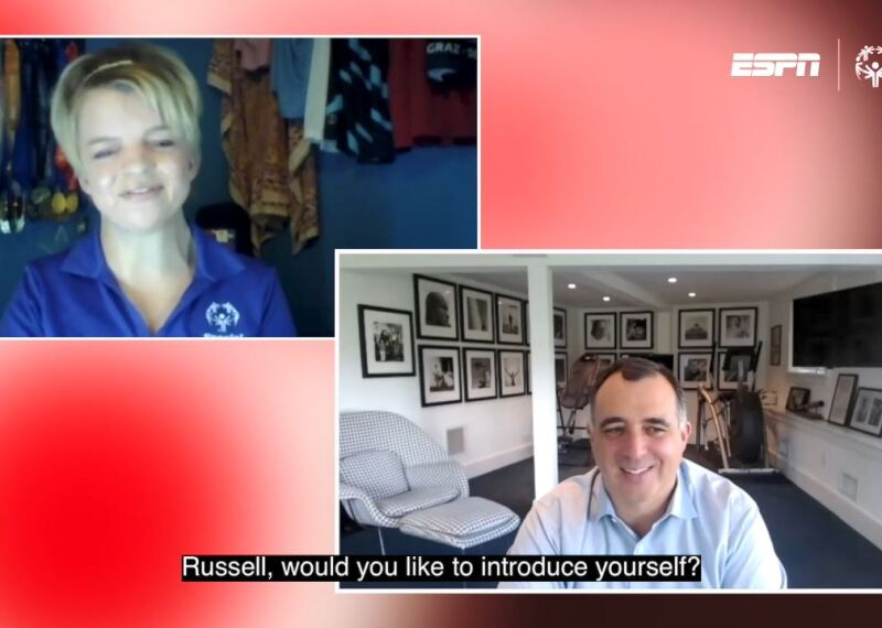 Dana Shilts and Russel Wolff in their own screens during a zoom interview.