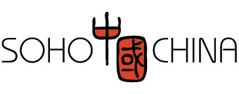 SOHO China logo in black and orange.